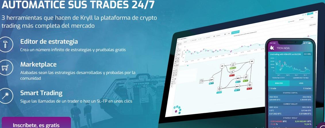 Qué es Kryll (KRL) la plataforma de trading cripto automatizado