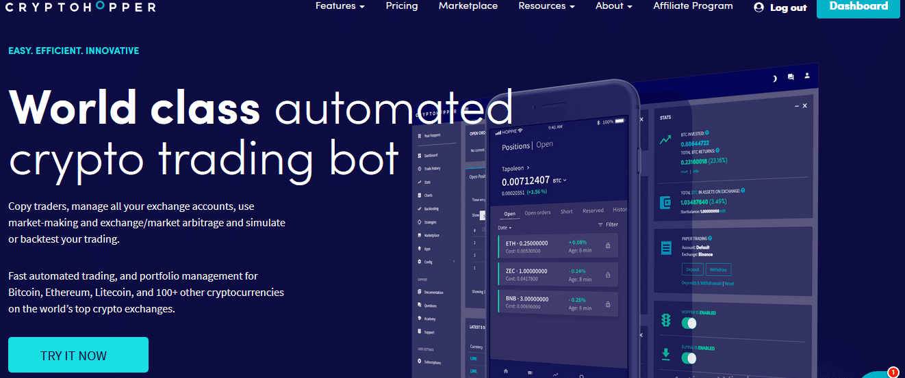 bot binance cryptohopper