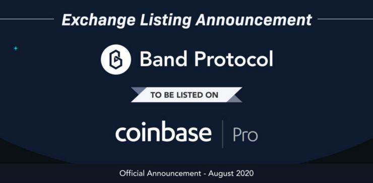 Band Protocol llega a Coinbase Pro