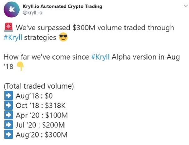 kryll 300 millones trading