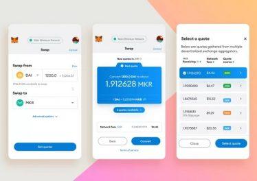 La billetera cripto MetaMask ahora permite el intercambio de tokens Ethereum y ERC20 directamente en su aplicación
